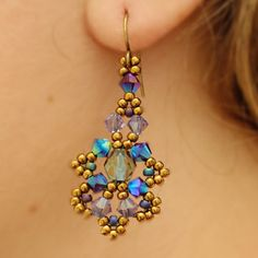 Right Angle Weave Earrings Beaded Patterns Seed Bead Jewelry