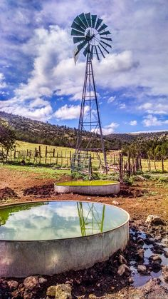 Near Ruidoso, New Mexico, a windmill on the Eagle Creek Land & Cattle Ranch.