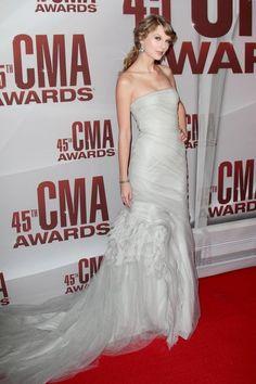 Taylor Swift Silver Strapless 2017 Cma Awards Dress
