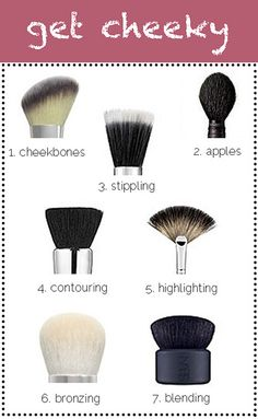 A very helpful chart on make-up brushes! Courtesy of The Beauty Department Beauty 101, Beauty Secrets, Diy Beauty, Beauty Hacks, Fashion Beauty, Blush Beauty, Fashion Tips, Fashion Trends, The Beauty Department