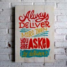 beri lebih ke kastemer.  Spray stencil on wood. 40 x 60 x 2 cm  #woodsign #homedecoration #homeandliving #vintage #alldecos #deliver #morethanthat