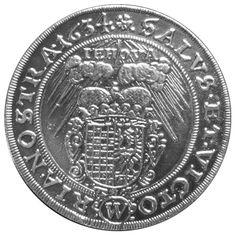 Schlesischer Reichstaler, Herzogtum Schlesien, Breslau von 1634 Waga: 28,33 g. Średnica: 42,6 mm Ø. Talar śląski z 1634 roku.