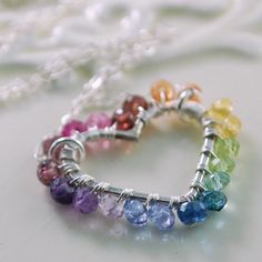 Rainbow Jewelry Child Wrapped Heart Genuine by myfirstjewellery, $54.00  -- would love to make