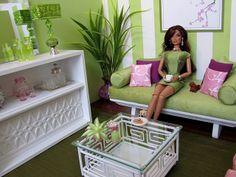 """Spring Fever""  1:6 scale living room by Abigail's Joy  www.abigailsjoy.com"