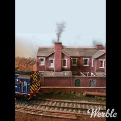 Experimenting with the Werble app, smoke rises from a model house chimney.