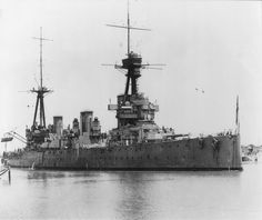 The battlecruiser HMAS Australia passing through the Suez Canal during her voyage back to Australia in 1919.