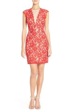 Aidan by Aidan Mattox Open Back Lace Sheath Dress available at #Nordstrom