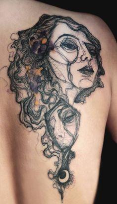 http://tattoomagz.com/face-design-tattoos/black-face-tattoo/