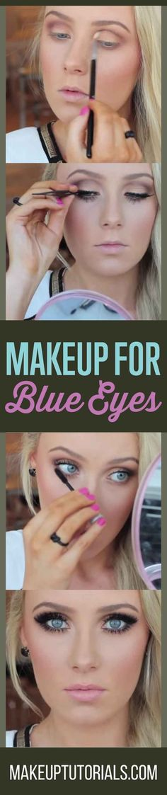 How To Do Cool Smokey Eye Makeup For Blue Eyes By Makeup Tutorials. http://makeuptutorials.com/smokey-eye-makeup-tutorial-blue-eyes/