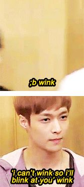 EXO's different types of wink - part 6 (GIF)