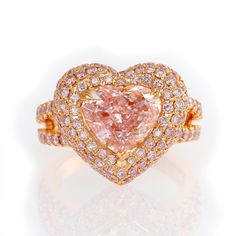 3.57 Carat, Light Pink, Heart, VS1  Certified by GIA