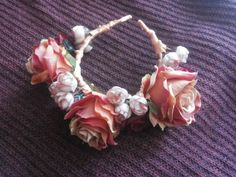 #roses #crown by Cristina Biella ( www.facebook.com/elanorsoulcreativity ) #headdress #headpiece #1 #rose #blossoms