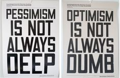 optimism pessimism - I need to buy these and frame for my office!