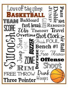 Basketball Subway Art Free Printable – Mini Van Dreams Source by foxzheather Free Basketball, Basketball Birthday Parties, Basketball Tricks, Basketball Is Life, Basketball Quotes, Basketball Gifts, Basketball Teams, Girls Basketball, Sports Gifts