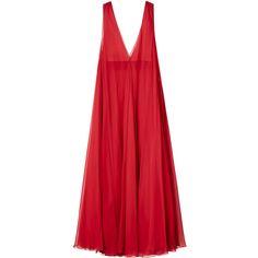 ドレス ❤ liked on Polyvore featuring dresses, valentino, gowns and red dress
