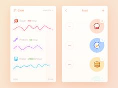 Daily UI #28  It's a CNM app.  It can help me to manage the daily nutritional intake, and then according to the nutrition health indicators, intelligent adjustment corresponding food intake quantit...