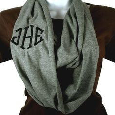 Monogrammed Infinity Scarf - great accessory for those chilly days!