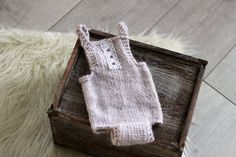 NEW! Newborn Photo Prop, Knitted Romper, Jumper, Baby Girl Outfit, Newborn Outfit, Pale Lavender, Lace, Newborn photography, Hand Knit