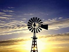 Tones of Home Country Art, Country Life, Country Living, Vertical Windmill, Amber Sky, Old Windmills, Ranch Life, Wind Power, Water Tower