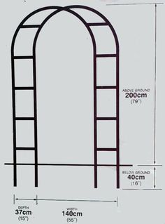 Arbor with squares and pipe. Could use pvc for arch and wood dowel or copper for cross. - Her Crochet Garden Nook, Garden Deco, Garden Yard Ideas, Garden Projects, Garden Arch Trellis, Garden Arches, Garden Gates, Front Garden Landscape, Rock Garden Plants