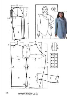 Amazing Sewing Patterns Clone Your Clothes Ideas. Enchanting Sewing Patterns Clone Your Clothes Ideas. Coat Patterns, Dress Sewing Patterns, Blouse Patterns, Sewing Patterns Free, Clothing Patterns, Skirt Patterns, Formation Couture, Sewing Blouses, Sewing Coat