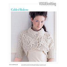 cabled bolero
