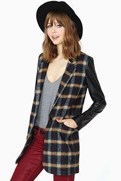 Frosh Plaid Coat