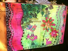 Pat Kozak - Filled in another one of my journal block pages.... ❤️ On THE DYAN REAVELEY ART JOURNALING Gateway FB Group.