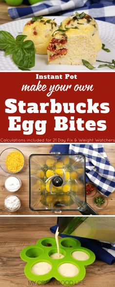 These copycat Starbucks Egg Bites are so delicious and easy to make in your Instant Pot! Save a ton of money by making Starbucks egg bites at home. Starbucks Egg Bites | Starbucks Egg Bites Recipe | Sous Vide Egg Bites | Instant Pot Egg Bites | Weight Watchers Egg Bites | 21 Day Fix Egg Bites #instantpot #pressurecooker #IPcooking #pressurecooking #21dayfix #beachbody #weightwatchers #starbucks via @bludlum