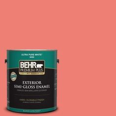 BEHR Premium Plus 1-gal. #170B-5 Youthful Coral Semi-Gloss Enamel Exterior Paint-534001 at The Home Depot