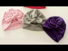Kolay bone dikimi, kolay turban dikimi, anne bebek ve çocuk. How to make a easy baby turban - YouTube