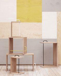 Coloured wood. Design Shimmer (Source)