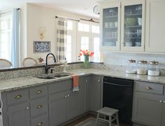 Chalk paint and painted kitchen cabinets tutorial
