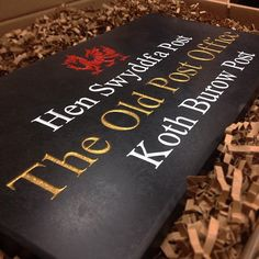 One of our favourite Welsh slate house signs. This one was a bespoke order for some lovely customers - we hope it looks fantastic at the front of their property.