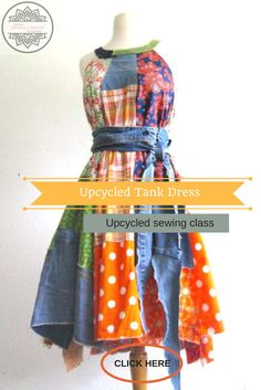 Upcycled Online Sewing Classes for Women by Wendy Bryant of CreoleSha. I will teach you how to create a dress similar to the 2 in the photos that you will love and wear! Join many others that are already taking these classes. this is the same class as this one -