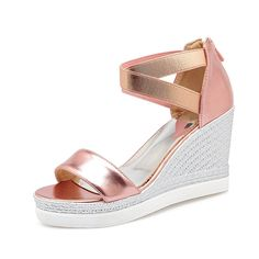 Women's Classic Platform Criss Cross Wedge Dress Sandals Plus size ** Read more reviews of the product by visiting the link on the image.
