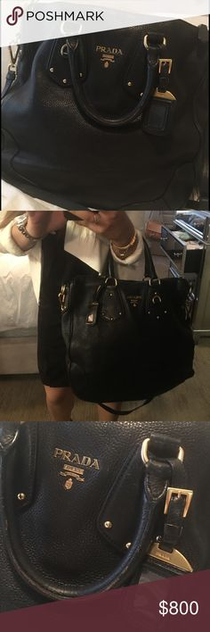 Prada Handbag Perfect for traveling! Very spacious and can be worn 2 ways. Goes with everything. Prada Bags Crossbody Bags