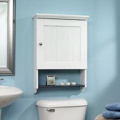 New Sauder White Bathroom Wall Medicine Cabinet Adjustable Shelf Storage Case Storage Cabinet, Over Toilet, Medicine Cabinet Shelves, Storage Cabinets, Wall Cabinet, Bathroom Wall Cabinets, Bathroom Furniture, Sauder, Bathroom Storage