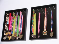 hanging board for race medals - maybe use an IKEA white frame or do on white for a wall gallery?