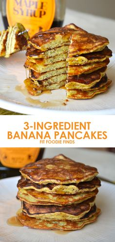 3-Ingredient Banana Pancakes: breakfast could not be any easier! | Fit Foodie Finds |  Part of the #SummerSWEATSeries Week 3 Meal Plan - SO GOOD!