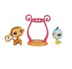 Littlest Pet Shop Pet Pairs: Bird & Monkey by Hasbro. $9.77. Collectible Fun!. Three Piece set. Littlest Pet Shop set includes Monkey and Bluebird figures as well as acessory.