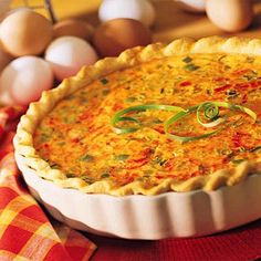 This Mexican Quiche takes all the best ingredients of a rich and creamy quiche and adds the essential elements of Mexican cooking: drop in Mexican cheese, diced green chiles and salsa prima.