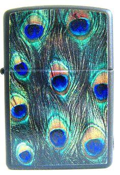 Zippo Lighter Peacock Feathers