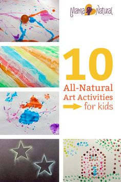 Next time you're looking for indoor fun, try these 10 natural art activities that are safe and flexible for kids of all ages.