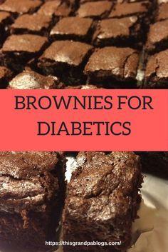 Diabetic Brownie Recipe, Diabetic Deserts, Diabetic Friendly Desserts, Diabetic Snacks, Diabetic Dessert Recipes, Diabetic Cookies, Brownie Recipes, Diabetic Menu Plans, Diabetic Bread