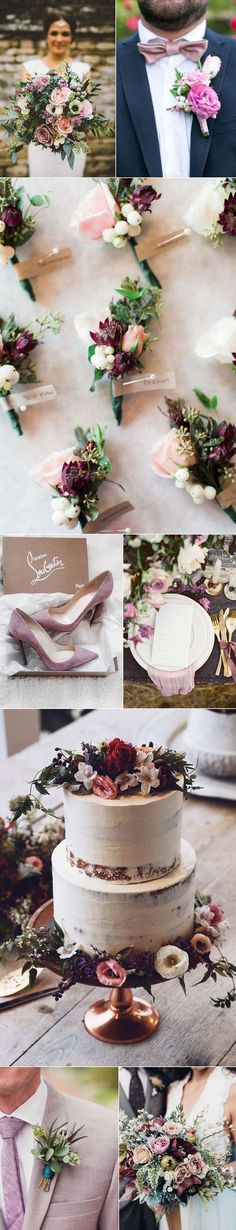 Best Wedding Palettes of 2017 | Vintage Mauves and Tonal Pinks