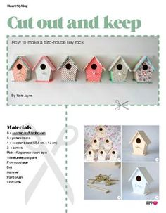 Bird House Key Rack Tutorial from Heart Home magazine Issue 1