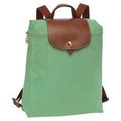 1e17abafdf20 Plecak zapinany na zamek Longchamp Le Pliage Palm Zielony Sac A Dos  Longchamp