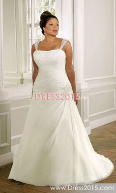 Love the straps but, I would not want straps on my dress.And the dress is plan.