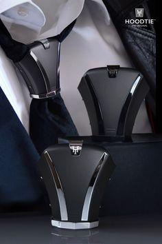 Hoodtie: Unique accessory for your tie. Mens Fashion Suits, Fashion Outfits, Suit Combinations, Suit And Tie, Well Dressed Men, Tie Knots, Stylish Men, Men Dress, Ideias Fashion
